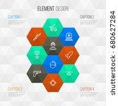 combat outline icons set.... | Shutterstock .eps vector #680627284
