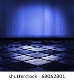 empty interior with spotlight - stock photo
