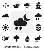set of 12 editable weather...