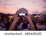 people are watching a concert... | Shutterstock . vector #680628100
