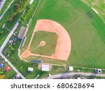 aerial view a large baseball... | Shutterstock . vector #680628694