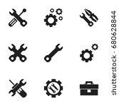 set of 9 editable repair icons. ... | Shutterstock .eps vector #680628844