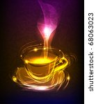 """cup of coffee  """"made of light""""...   Shutterstock .eps vector #68063023"""