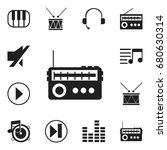 set of 12 editable melody icons....