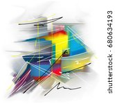 color creative abstract art ... | Shutterstock . vector #680634193