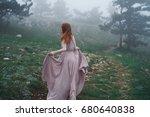 young beautiful woman in a long ...   Shutterstock . vector #680640838