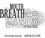 babies bad breath text word... | Shutterstock .eps vector #680642248