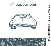 weight scale doodle   Shutterstock .eps vector #680644810