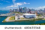 aerial view of downtown miami ...   Shutterstock . vector #680655568