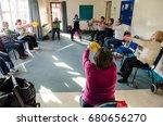 glastonbury  uk   2014  07... | Shutterstock . vector #680656270
