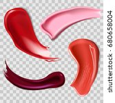 lipstick smears isolated on... | Shutterstock .eps vector #680658004