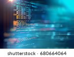 programming code abstract... | Shutterstock . vector #680664064