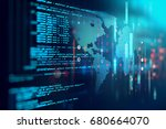 programming code abstract... | Shutterstock . vector #680664070