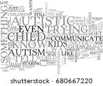 autistic children and the... | Shutterstock .eps vector #680667220