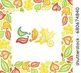 beautiful autumn leaves. vector ... | Shutterstock .eps vector #680674840