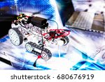 remote control car | Shutterstock . vector #680676919
