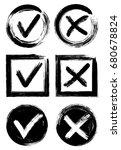 tick and cross test signs set ... | Shutterstock .eps vector #680678824