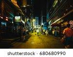 july 14  2017  lan kwai fong ... | Shutterstock . vector #680680990