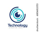creative technology concept... | Shutterstock .eps vector #680681053