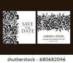 vintage delicate invitation... | Shutterstock . vector #680682046
