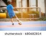 blurry motion blur children... | Shutterstock . vector #680682814