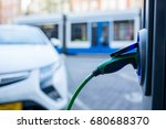 electric car charger changing... | Shutterstock . vector #680688370