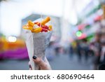 french fries food desert for... | Shutterstock . vector #680690464