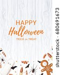 beautiful flyer with sweets for ... | Shutterstock .eps vector #680691673