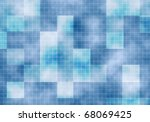 abstract blue square background.... | Shutterstock .eps vector #68069425