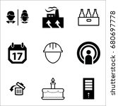 set of 9 miscellaneous icons... | Shutterstock .eps vector #680697778