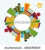 phoenix skyline with color... | Shutterstock . vector #680698834