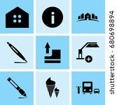 set of 9 mixed icons such as... | Shutterstock .eps vector #680698894