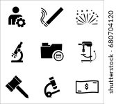 set of 9 miscellaneous icons... | Shutterstock .eps vector #680704120