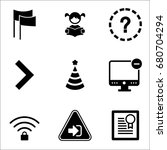 set of 9 miscellaneous icons... | Shutterstock .eps vector #680704294