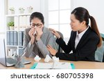 beautiful young office worker...   Shutterstock . vector #680705398