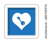 heart icon vector flat design...   Shutterstock .eps vector #680709574