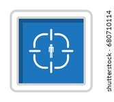 gps navigation icon vector flat ... | Shutterstock .eps vector #680710114