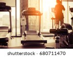 blur image of fitness hall with ... | Shutterstock . vector #680711470