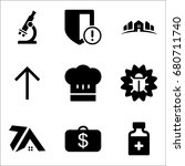 set of 9 miscellaneous icons... | Shutterstock .eps vector #680711740