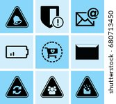 set of 9 web icons such as data ... | Shutterstock .eps vector #680713450