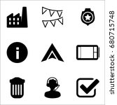set of 9 miscellaneous icons... | Shutterstock .eps vector #680715748