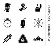 set of 9 miscellaneous icons... | Shutterstock .eps vector #680716984