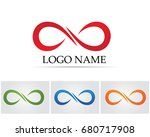 infinity logo and symbol... | Shutterstock .eps vector #680717908