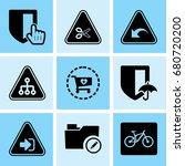 set of 9 web icons such as data ... | Shutterstock .eps vector #680720200