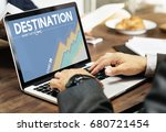 destination location journey... | Shutterstock . vector #680721454