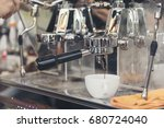 coffee machine make a black... | Shutterstock . vector #680724040