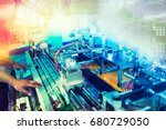 automatic assembly technology | Shutterstock . vector #680729050
