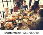 thanksgiving celebration... | Shutterstock . vector #680730040