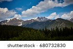 scenic rocky mountains with... | Shutterstock . vector #680732830