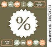 sign  percent symbol discount... | Shutterstock .eps vector #680736748